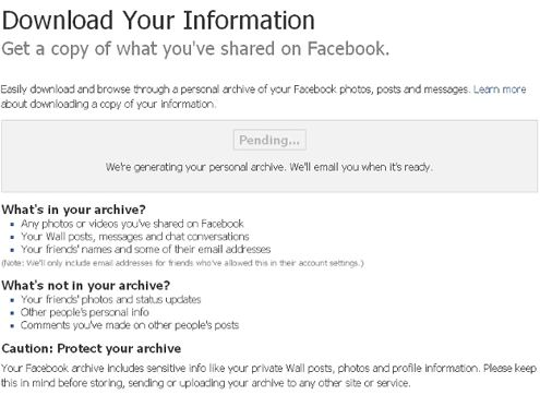 facebook backup data 5bis How to Backup Your Facebook Profile?