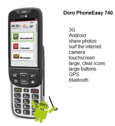 Doro PhoneEasy 740 smartphone for seniors1 Senior Friendly Smartphones