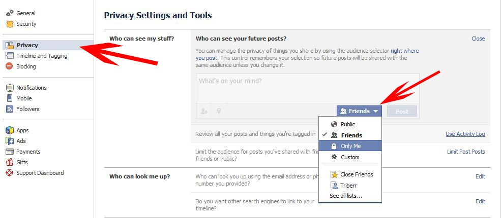 Facebook privacy settings_who can see my stuff