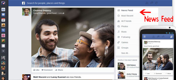 facebook news feed new design Facebook New(s) Feed for Beginners