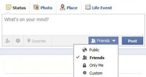 facebook_status update privacy
